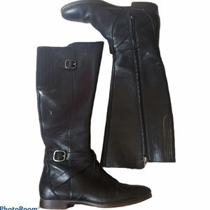 Ugg Beryl Riding Boots Wide Calf Black Sz 7